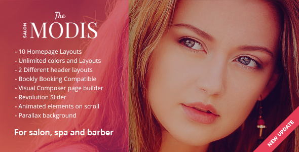 Modis - Salon & Barber WordPress Theme