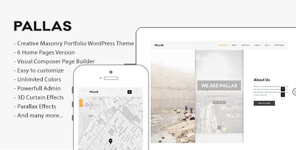 Pallas - Creative Multi-Purpose WordPress Theme